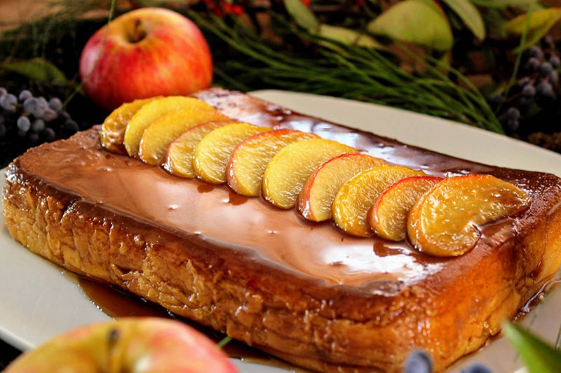 pastel de manzana y leche condensada