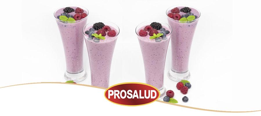 Batido de fresa natural con leche condensada Prosalud