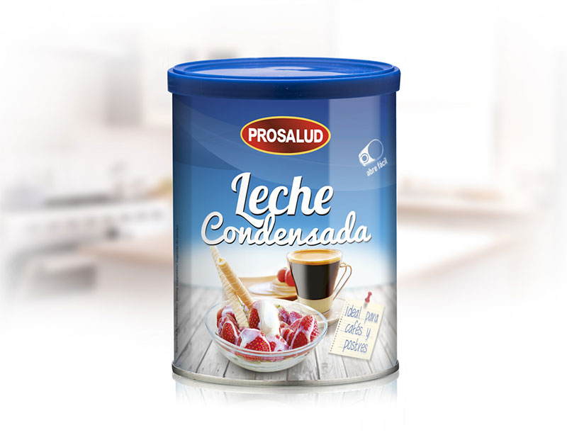 Lata 740 g leche condensada Prosalud flan de naranja y leche condensada receta tradicional