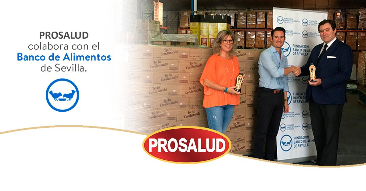 Banco de alimentos de Sevilla Prosalud leche condensada colaboracion leche condensada