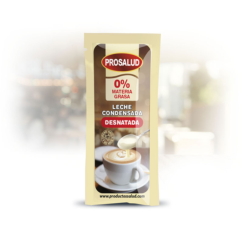 Sobre monodosis leche condensada desnatada Prosalud nuevo diseno