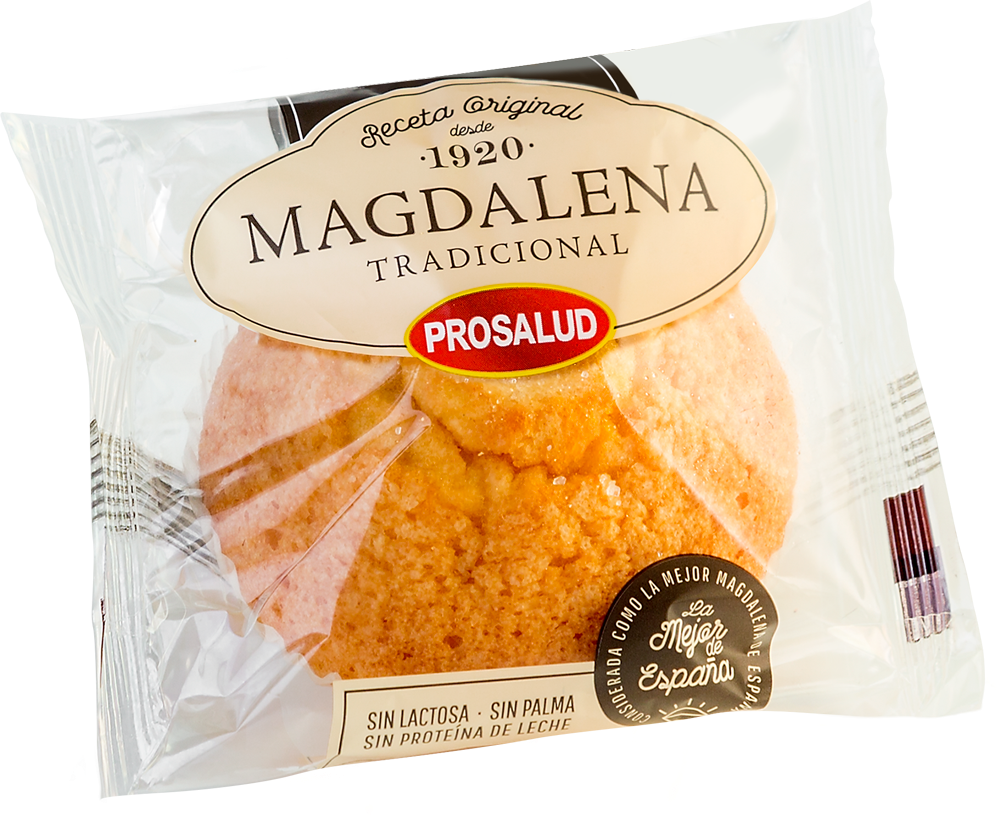 Magdalena Tradicional Prosalud sin lactosa sin palma sin proteina de leche hosteleria recetas horeca