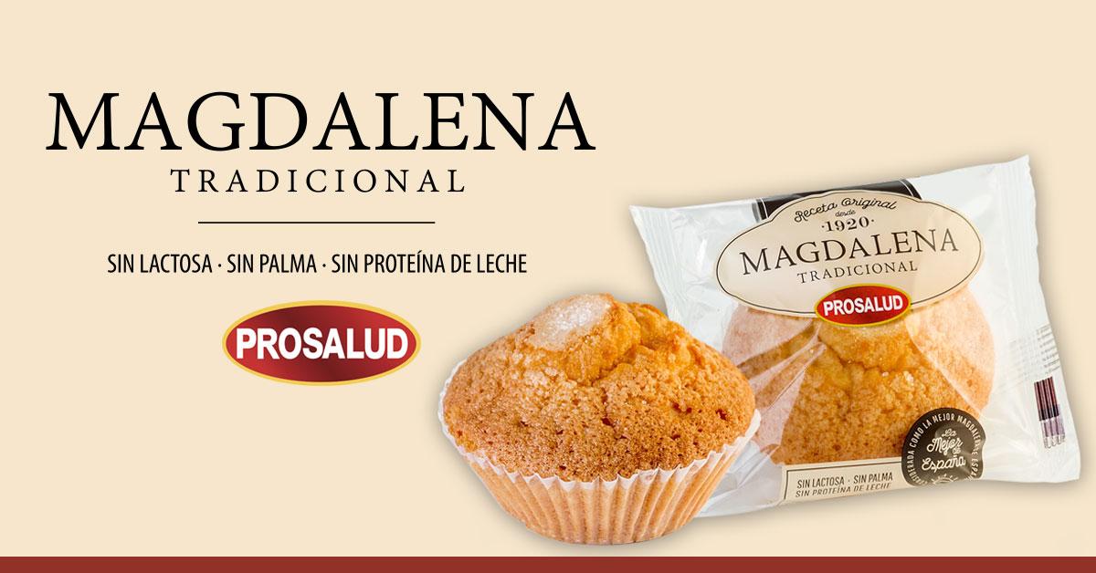Magdalena Tradicional Prosalud sin lactosa sin palma sin proteina de leche hosteleria