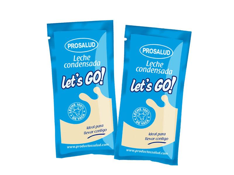 sobres monodosis de leche condensada