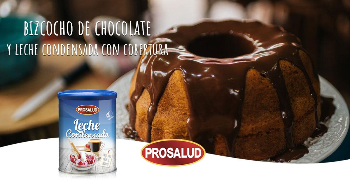 Bizcocho de chocolate y leche condensada con cobertura de chocolate receta tradicional
