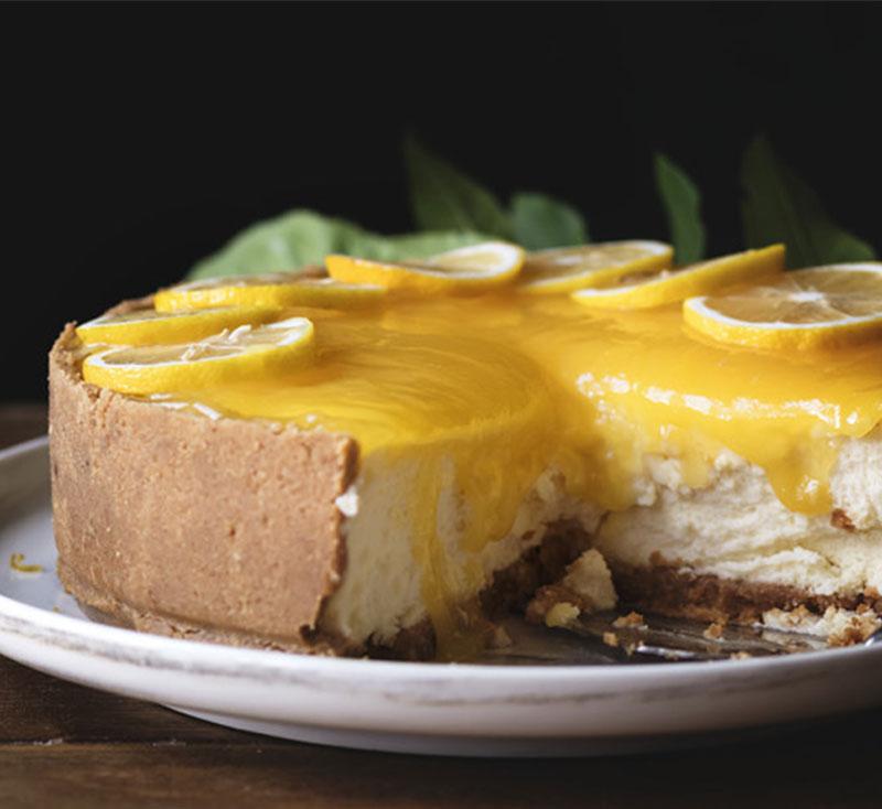 tarta fria de limon con leche condensada prosalud y galletas