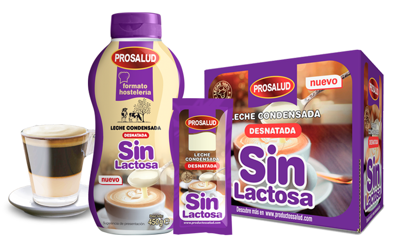 leche condensada sin lactosa para cafeteria hosteleria horeca