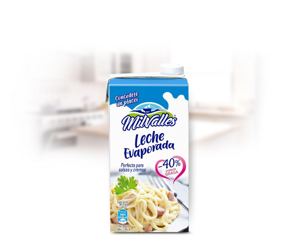 leche evaporada gran consumo milvalles