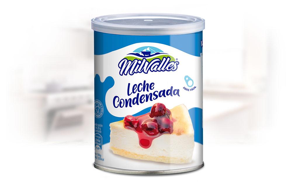 Lata de Leche Condensada Gran Consumo Milvalles