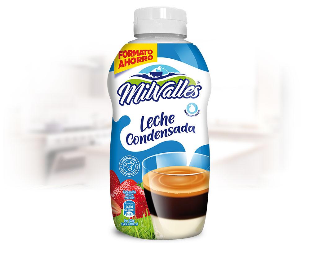 sirvefacil 625 leche condensada entera formato ahorro milvalles gran consumo